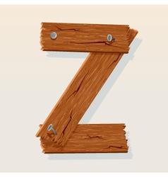 wooden letter z vector image