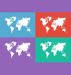 World map flat design vector