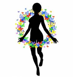 butterfly woman vector image vector image