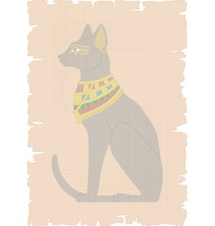 Egyptian Cat on Papyrus vector image vector image