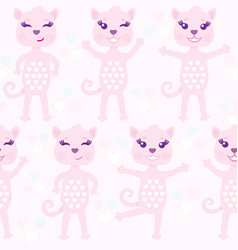 funny seamless pattern with pink abstract vector image