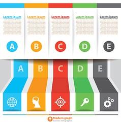 Modern banner infographic vector