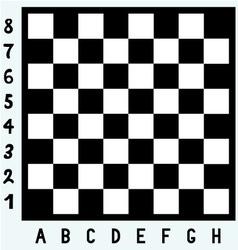 Modern chess board vector image