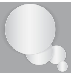 White circle paper sheet vector image vector image