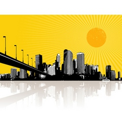 illustration with city vector image vector image