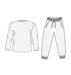Jacket and sweatpants Tracksuit sketch set vector image