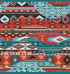 native american waves patchwork vector image