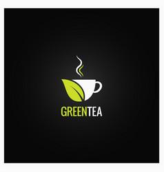 tea cup concept design green organic tea vector image