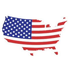 us flag map vector image vector image