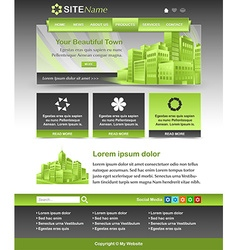 Website template layout vector image