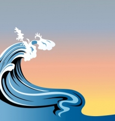 big waves vector image vector image