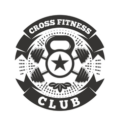 Cross Fitness Club vector image