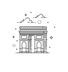 france paris triumphal arch icon vector image