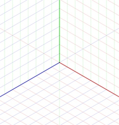 Isometric projection background vector image