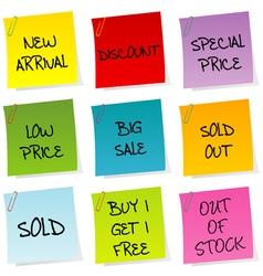 Sale announcements vector image vector image