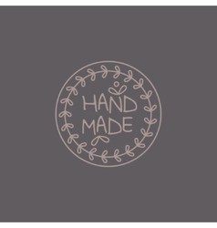 Simple Floral Grey Hand Made Trademark vector image