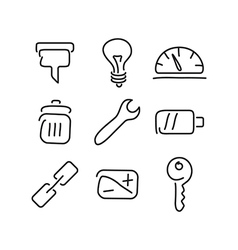 Technical tools set icons vector image vector image