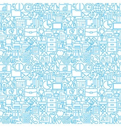Thin Line Business Office White Seamless Pattern vector image vector image