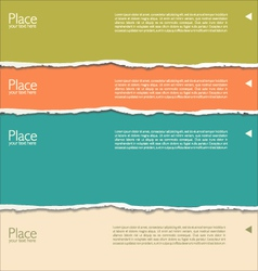 Torn paper background with space for text vector