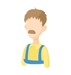 Warehouse worker icon cartoon style vector image vector image