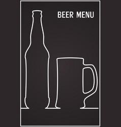 beer menu template design template vector image