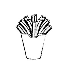 Figure delicious fries french fast food meal vector