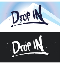 lettering Drop in vector image vector image