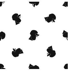 poodle dog pattern seamless black vector image vector image