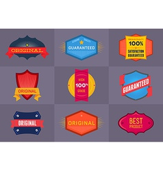 Set of flat Original and Premium labels vector image vector image