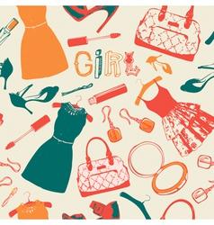 Vintage fashion pattern background vector