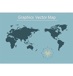 World map of information graphics vector