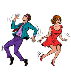 a couple dancing music party vector image