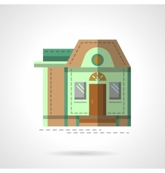 A house flat color icon vector image