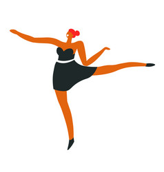 ballet dancer or ballerina in dance move vector image