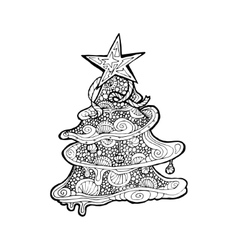 Black mono color for Merry vector image
