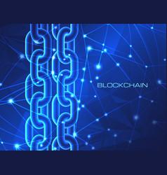 blockchain technology concept block chain database vector image