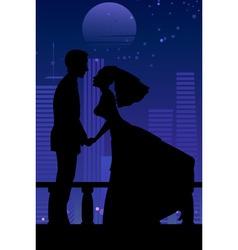 bride and groom vector image vector image