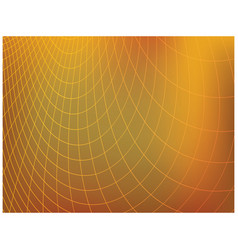 Bright orange background with mesh - curved vector