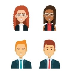 business people avatars icon vector image