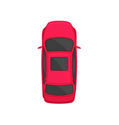 Car top view city vehicle transport automobile vector