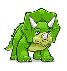 Cartoon Triceratops vector