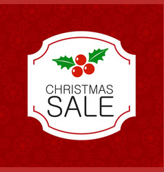 Chrismtas sale pattern background vector