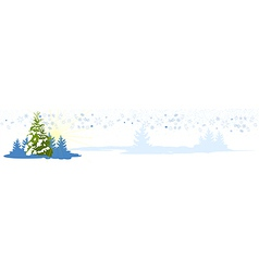 Christmas tree card banner vector image