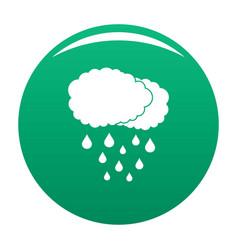cloud rain icon green vector image