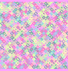 colorful seamless diagonal curved shape pattern vector image