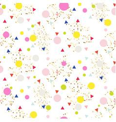 confetti seamless glitter white background vector image