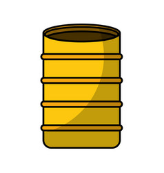 Construction barrel isolated icon vector