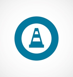 construction cone bold blue border circle icon vector image