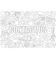 contact us background from line icon vector image