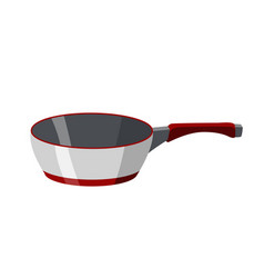 cooking pan colorful isolated vector image
